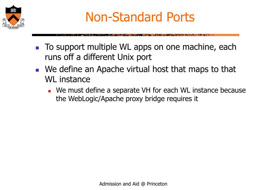 Non-Standard Ports