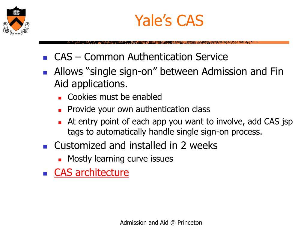 Yale's CAS