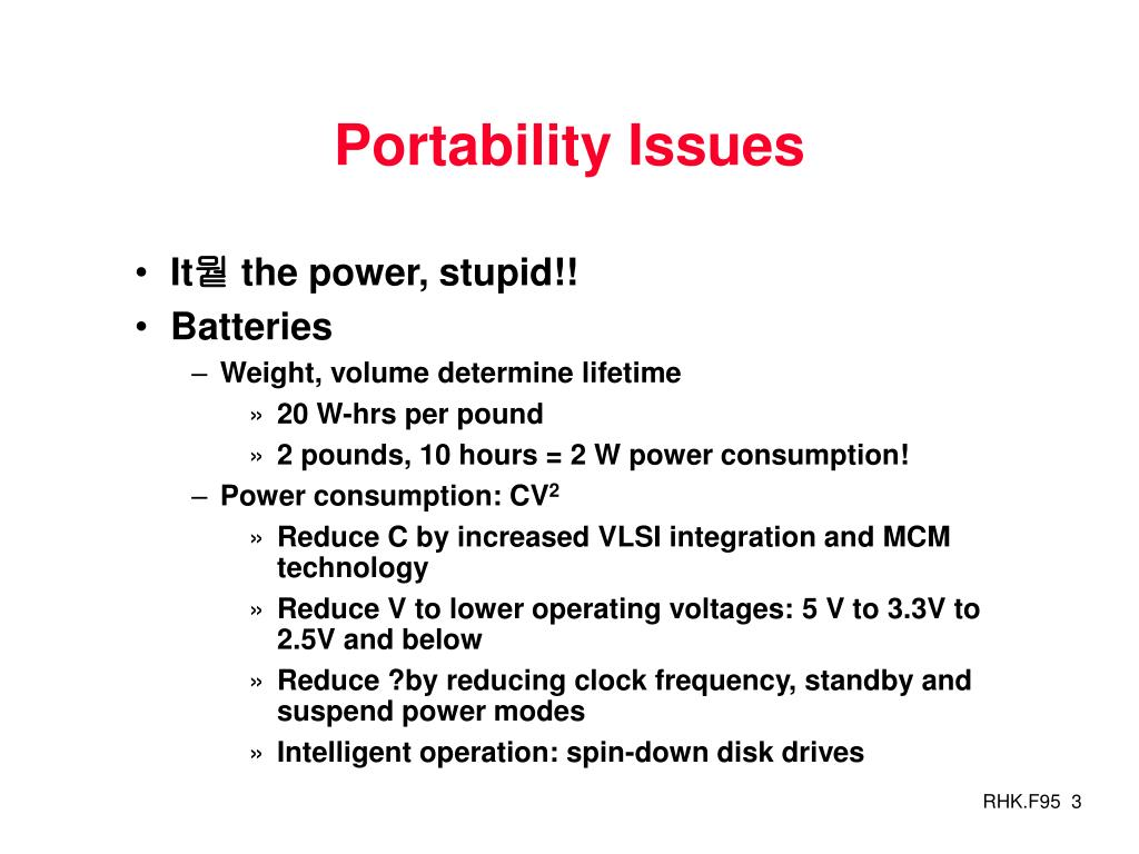 Portability Issues