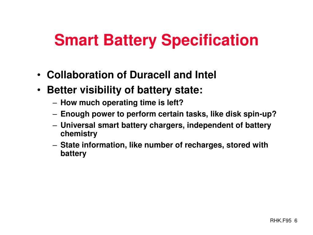 Smart Battery Specification