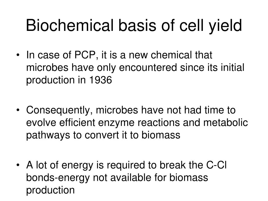 Biochemical basis of cell yield