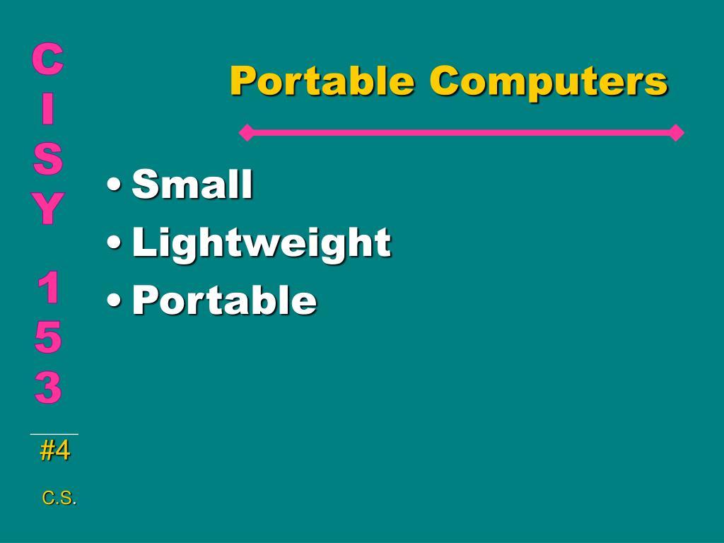 Portable Computers