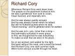 Richard cory analysis