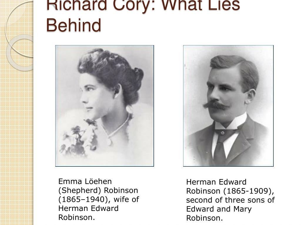 Richard Cory: What Lies Behind