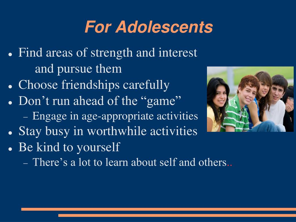 For Adolescents