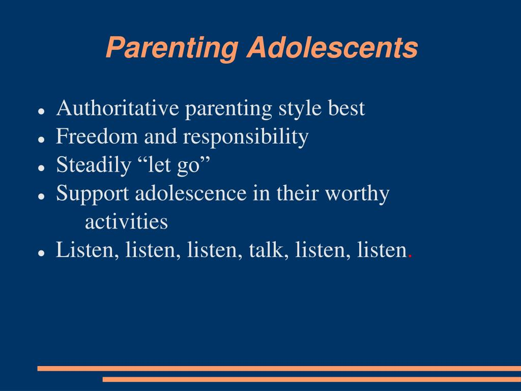 Parenting Adolescents