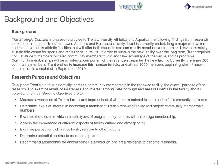 Background and objectives