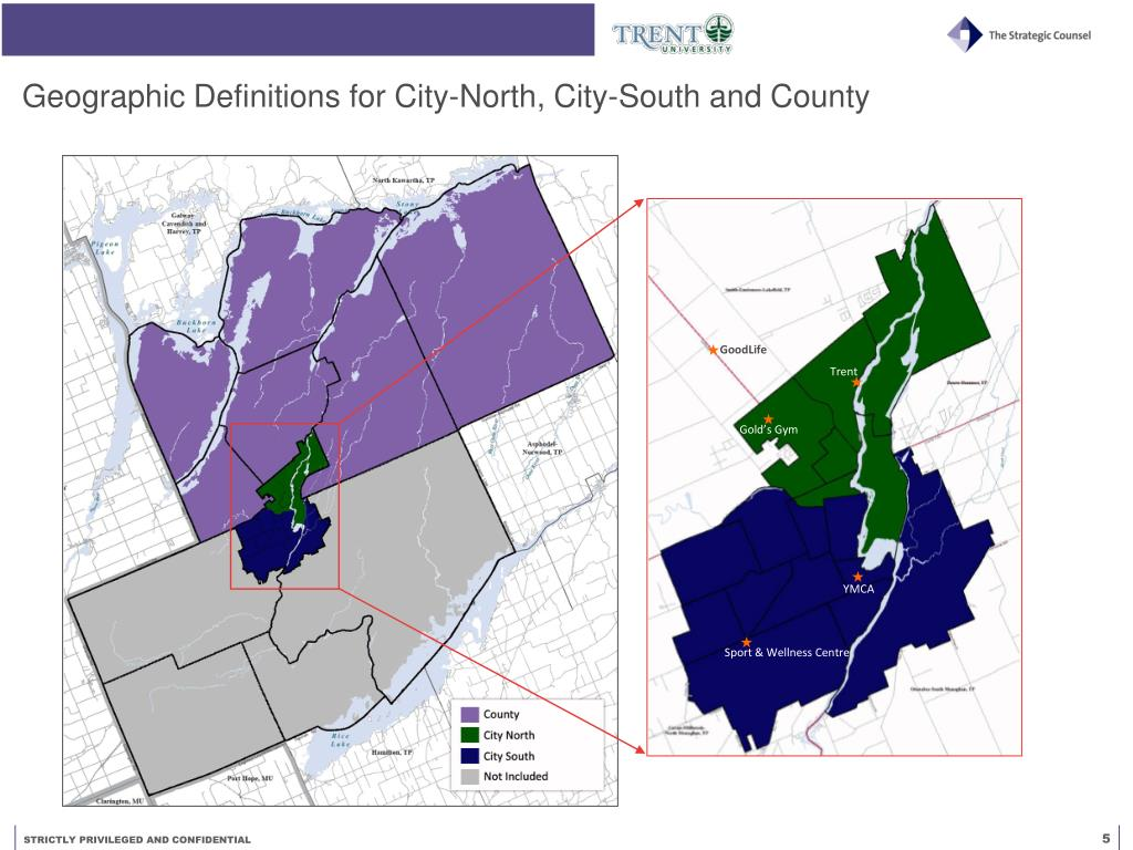Geographic Definitions for City-North, City-South and County