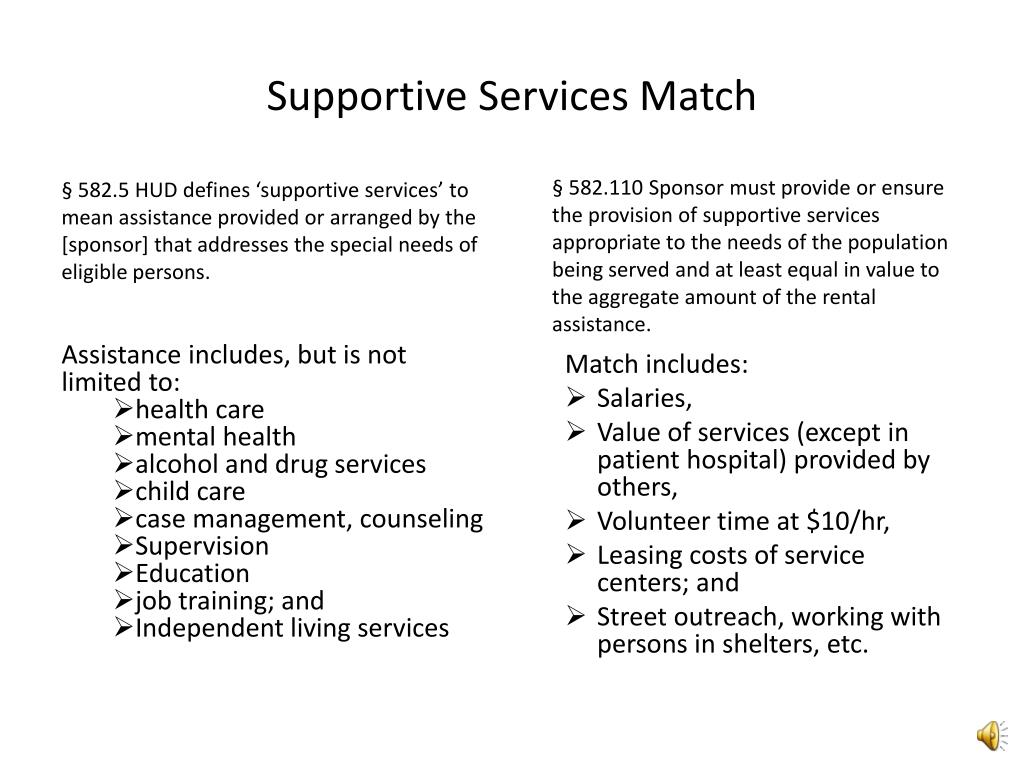 Supportive Services Match