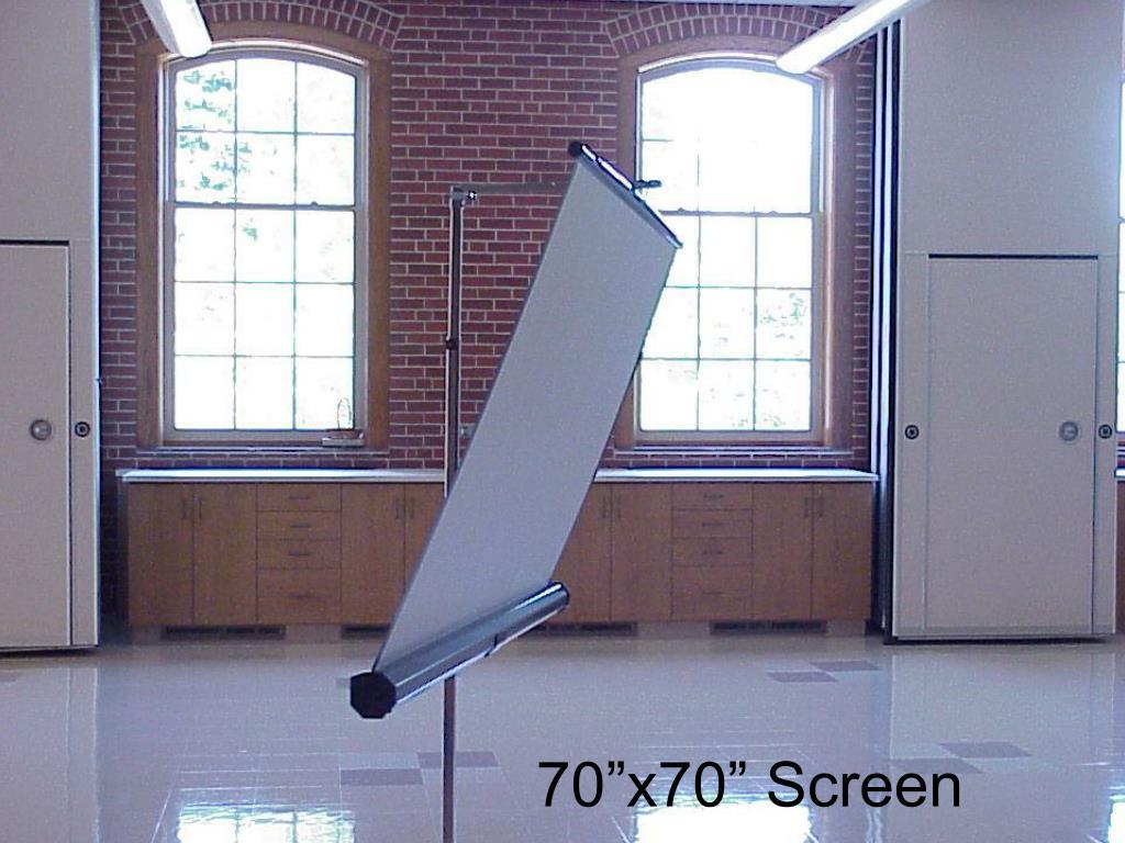 "70""x70"" Screen"