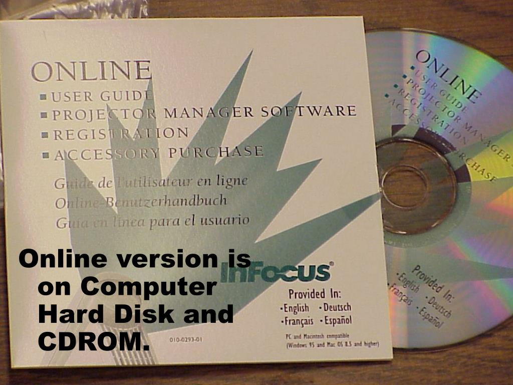 Online version is on Computer Hard Disk and CDROM.