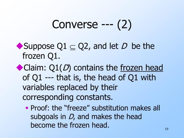 Converse --- (2)