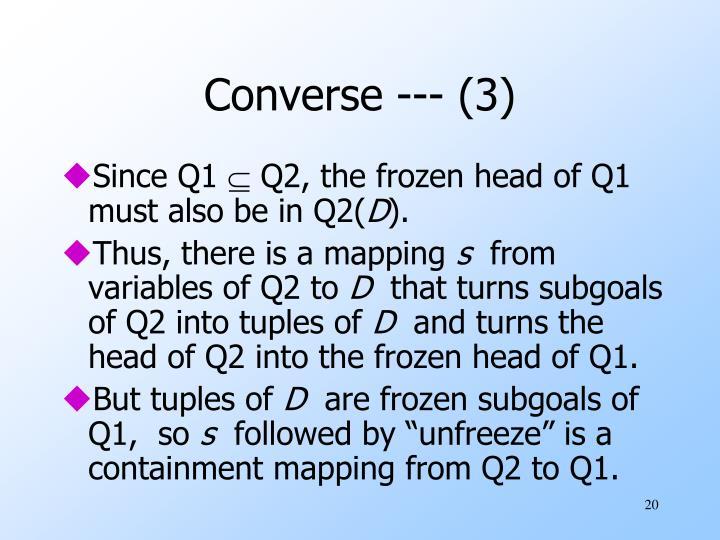 Converse --- (3)