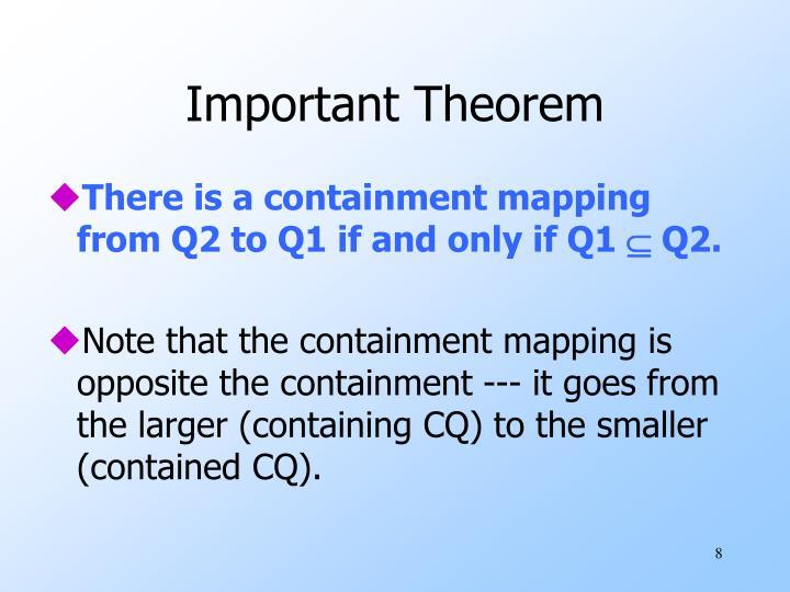 Important Theorem