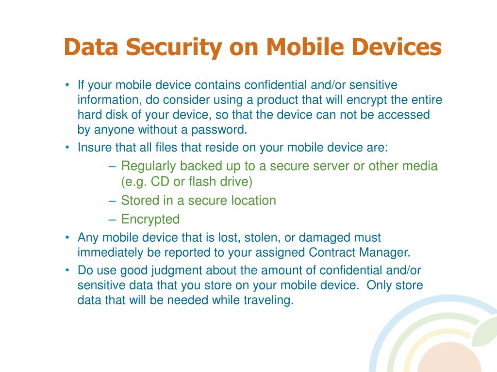 Data Security on Mobile Devices