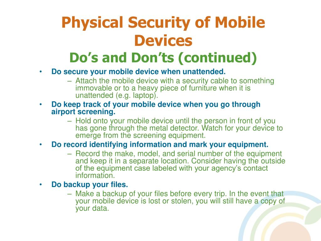 Physical Security of Mobile Devices