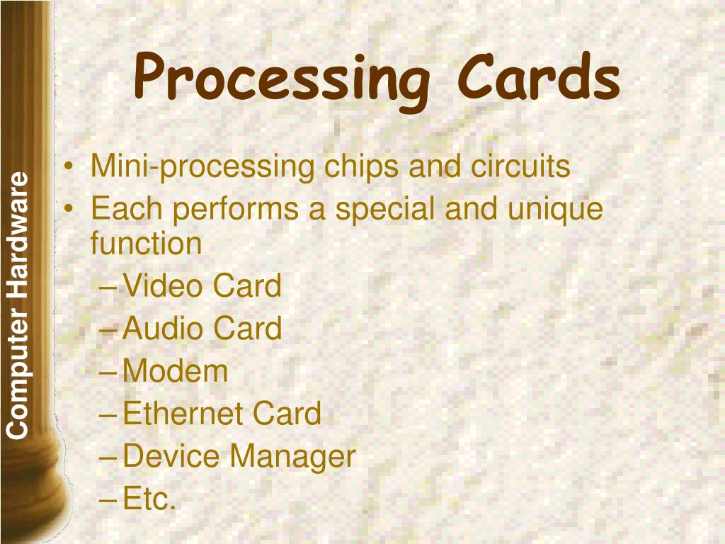 Processing Cards