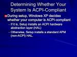 determining whether your system is acpi compliant