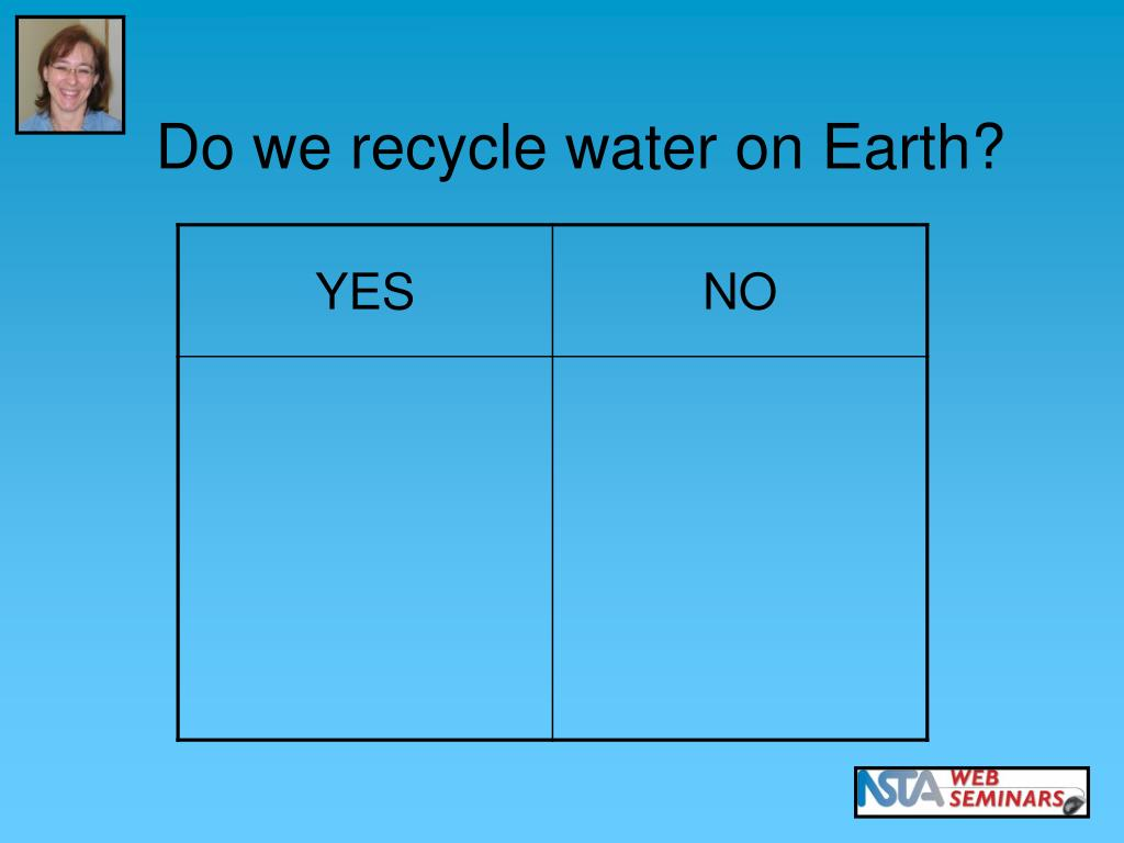 Do we recycle water on Earth?