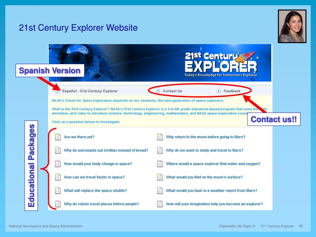 21st Century Explorer Website