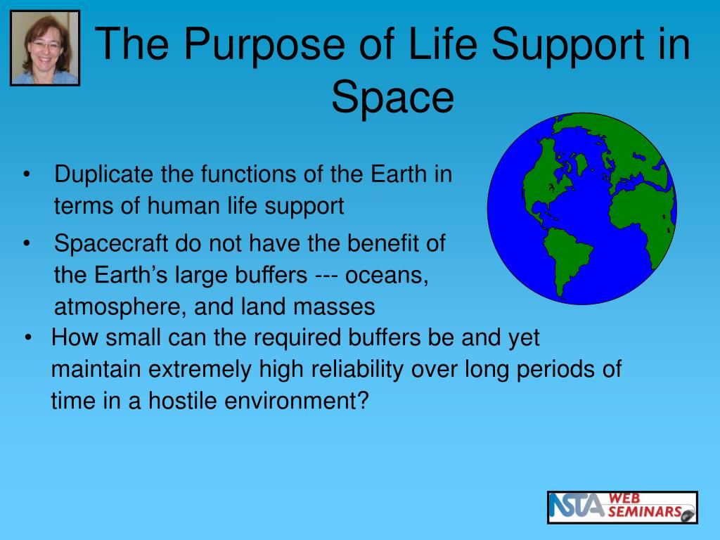 The Purpose of Life Support in Space