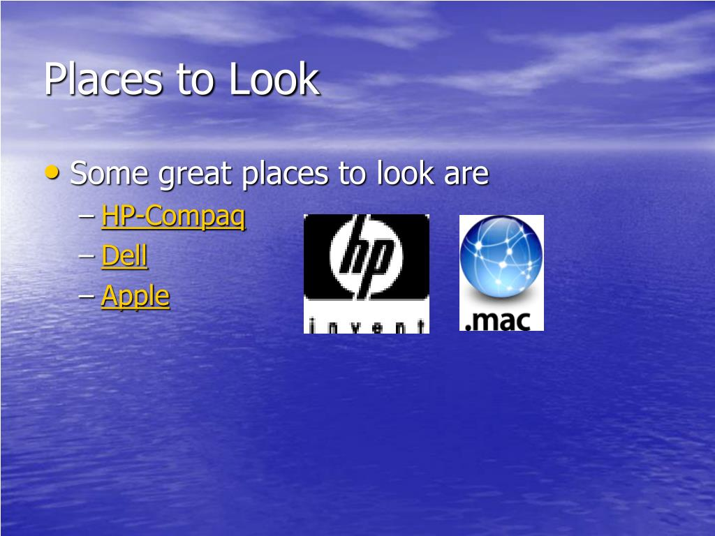 Places to Look