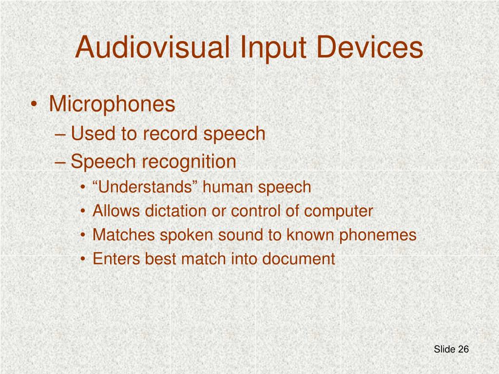 Audiovisual Input Devices