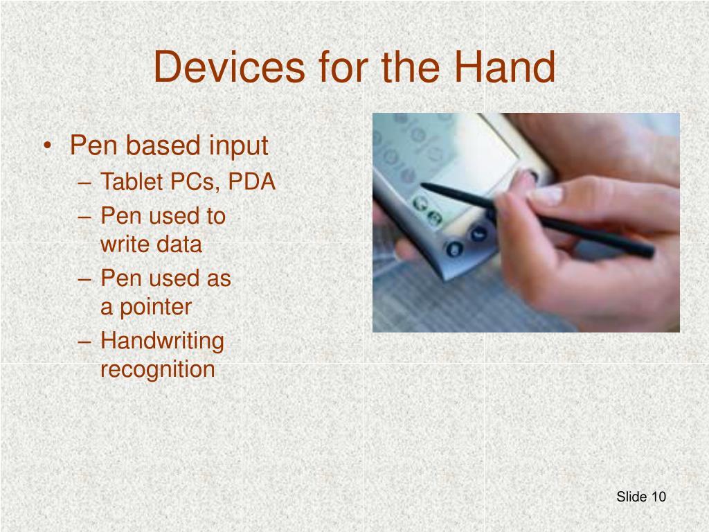 Pen based input