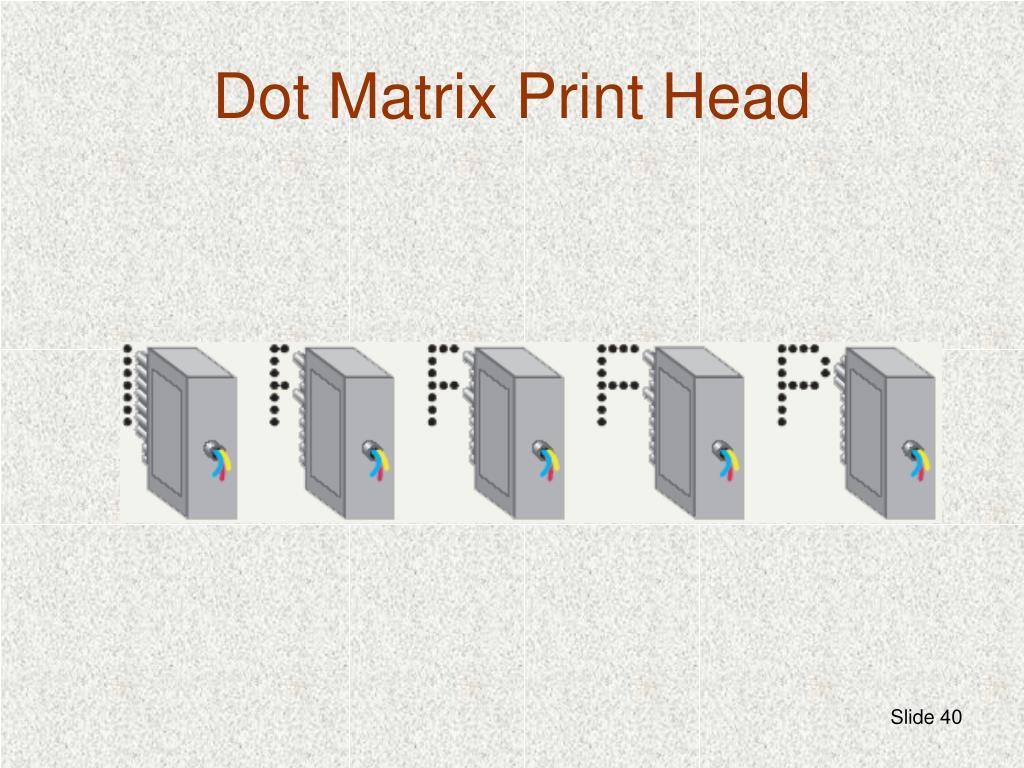 Dot Matrix Print Head