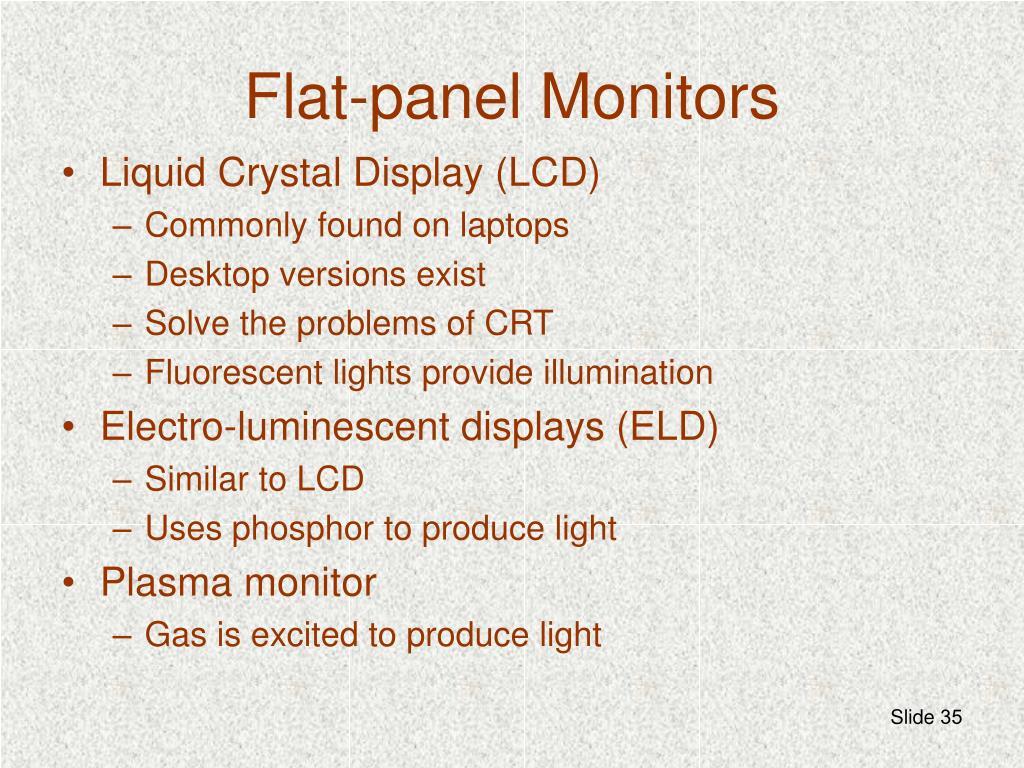 Flat-panel Monitors