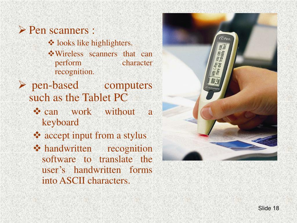 Pen scanners :