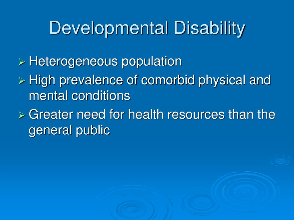 Developmental Disability