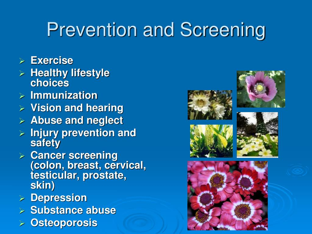 Prevention and Screening
