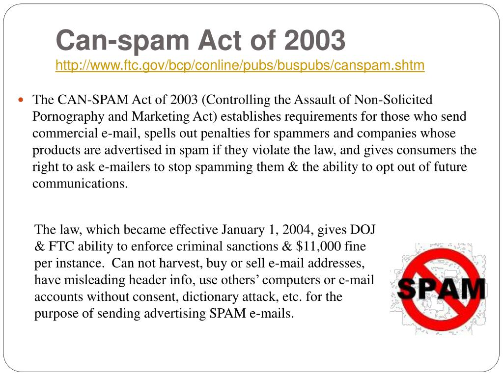 Can-spam Act of 2003