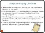 computer buying checklist