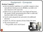 equipment computer12