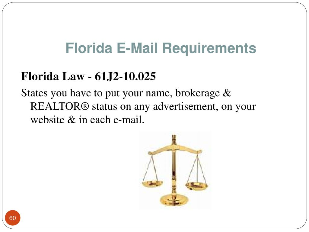 Florida E-Mail Requirements