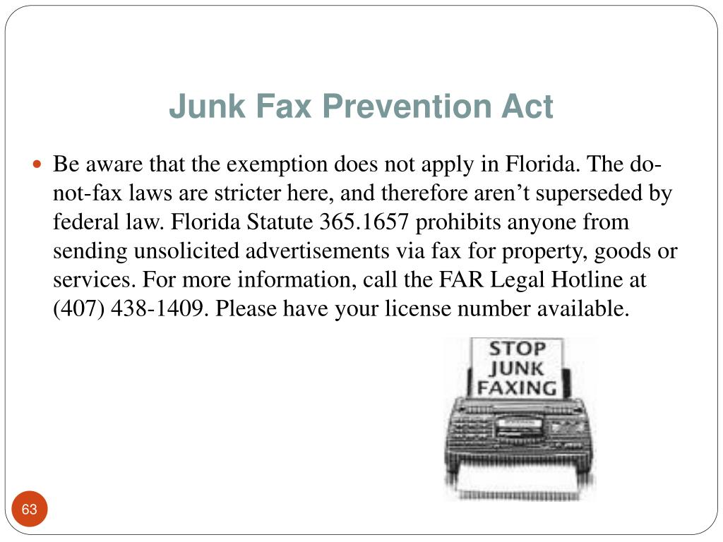Junk Fax Prevention Act