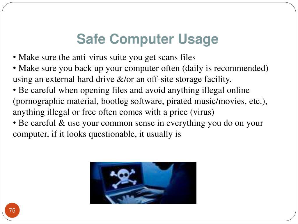Safe Computer Usage