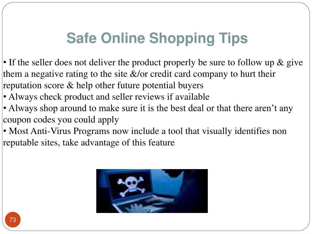 Safe Online Shopping Tips
