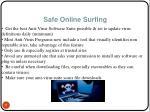 safe online surfing