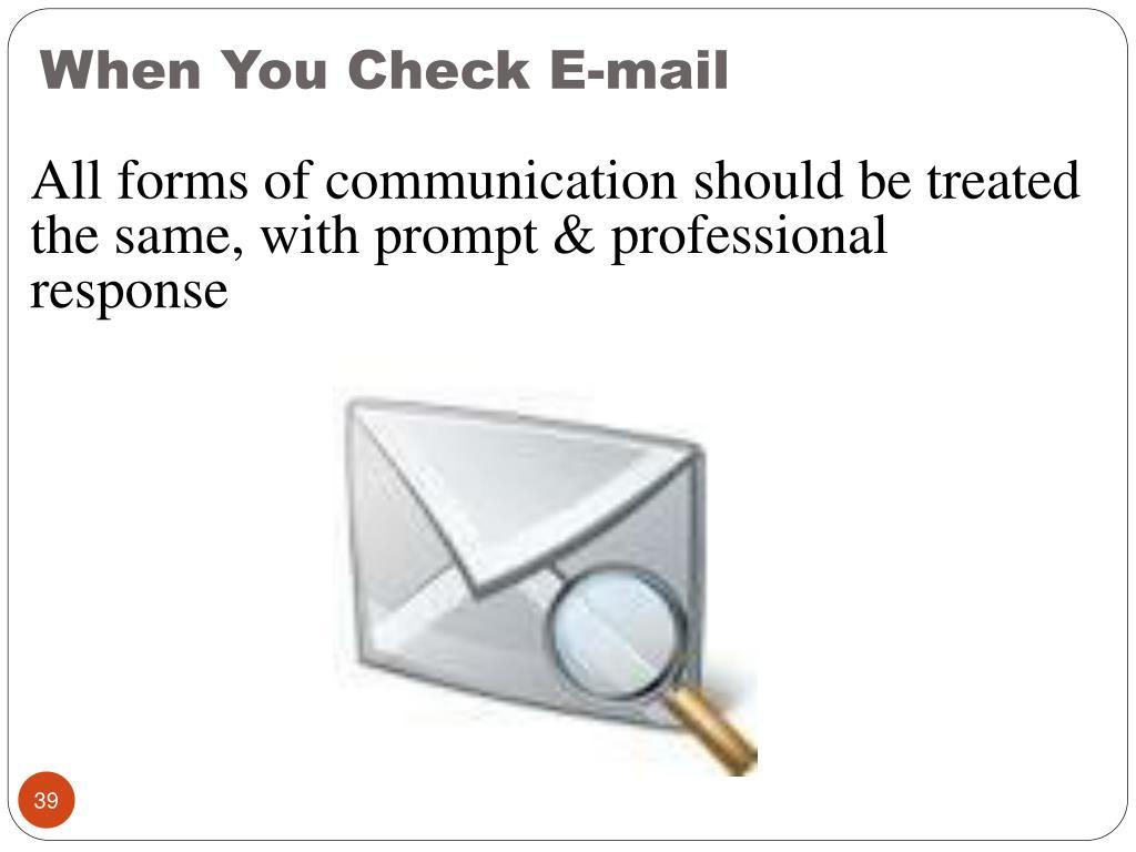 When You Check E-mail