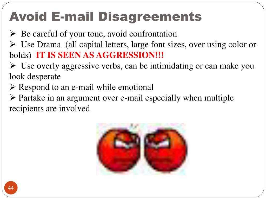 Avoid E-mail Disagreements
