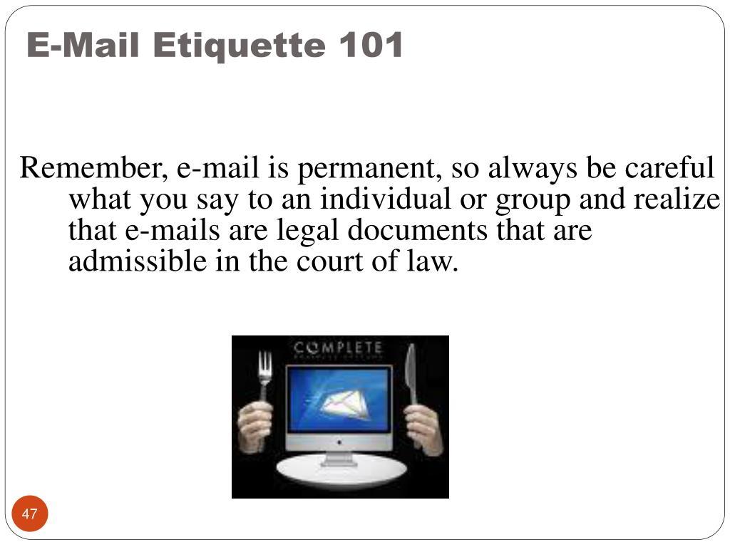 E-Mail Etiquette 101
