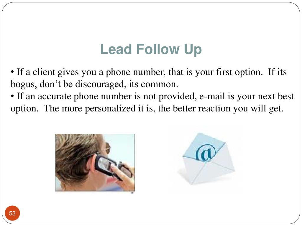 Lead Follow Up