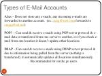 types of e mail accounts