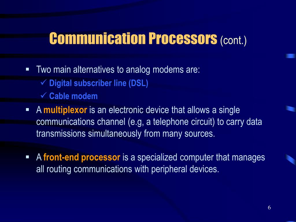 Communication Processors