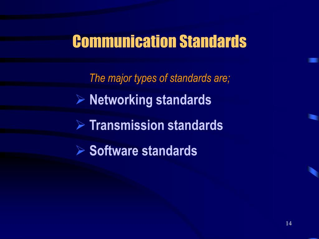 Communication Standards