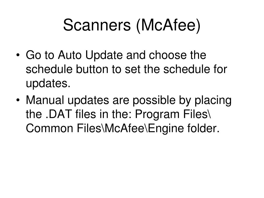 Scanners (McAfee)