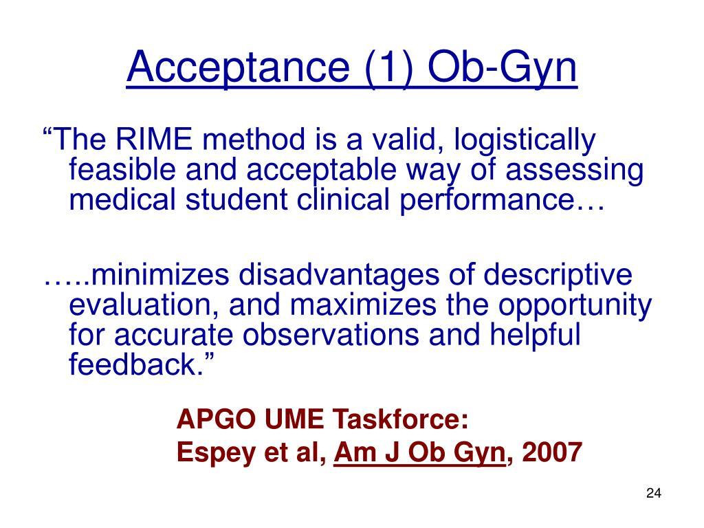 Acceptance (1) Ob-Gyn
